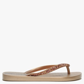 Ipanema Glam Special Crystal Gold Flip Flops