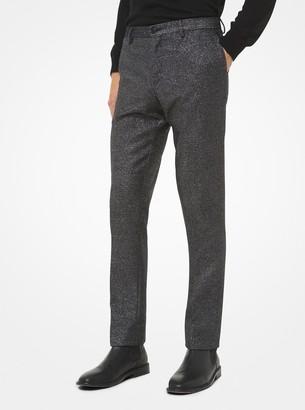 Michael Kors Slim-Fit Metallic Wool-Blend Trousers