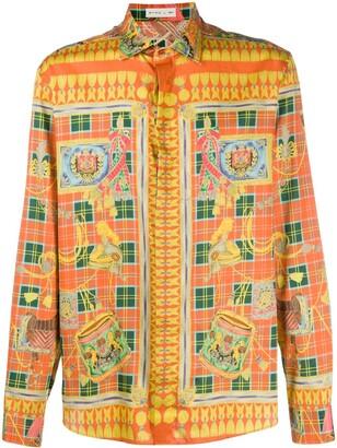 Etro Scarf-print cotton shirt