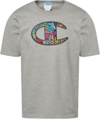 Champion 90's Print Big Logo T-Shirt - Grey