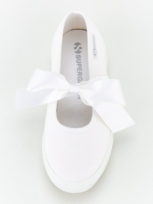 Superga Girls 2557 Cotj Bow Plimsoll Pump