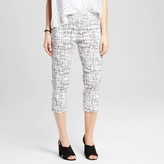Zac & Rachel Women's Printed Pull-on Cropped Pant with Tummy Control