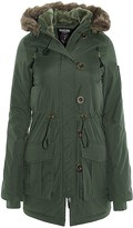 Thumbnail for your product : Brave Soul Womens Military Polyester Padded Parka Coat - Khaki - 10