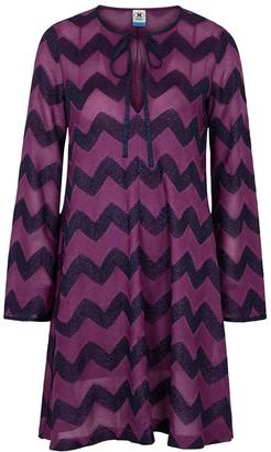 M Missoni Zigzag metallic-knit mini dress