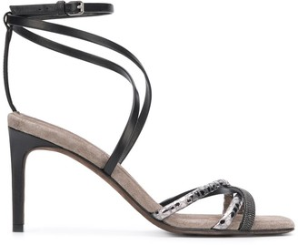 Brunello Cucinelli Strappy Stiletto Sandals