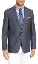 BOSS Men's Hamit-T Trim Fit Linen & Cotton Blazer