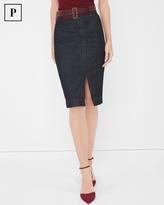 White House Black Market Petite Denim Pencil Skirt