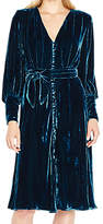 Ghost Riley Velvet Dress, Deep Teal