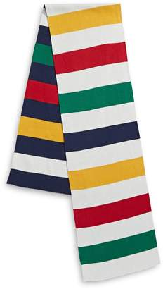 HBC Stripes Multi-Stripe Reversibel Cotton-Blend Knit Scarf