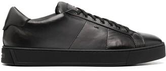 Santoni Leather Low-Top Sneakers