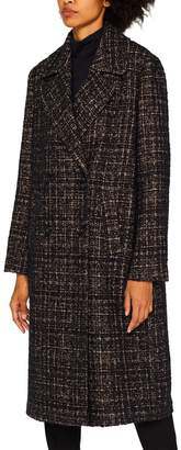 Esprit Womens Brown Double Breasted Boucle Coat - Brown