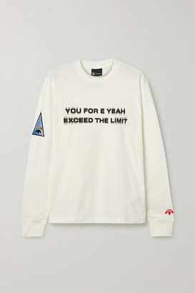 adidas By Alexander Wang By Alexander Wang - Flex 2 Club Appliqued Printed Cotton-jersey Top - Off-white