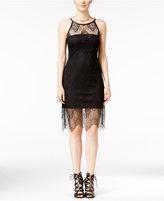 Jump Juniors' Illusion-Lace Halter Bodycon Dress