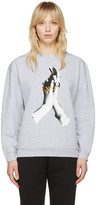 McQ by Alexander McQueen Grey Hands Classic Pullover