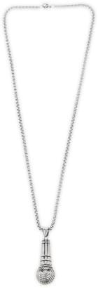 Eye Candy La Titanium Freddie Mic Pendant Necklace