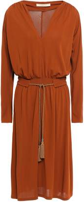 Vanessa Bruno Belted Crepe-jersey Dress