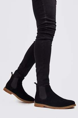 boohoo Faux Suede Chelsea Boots