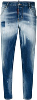 DSQUARED2 faded Hockney jeans - women - Cotton/Spandex/Elastane - 36