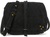 Jerome Dreyfuss Nestor Ring-embellished Suede Shoulder Bag - Black