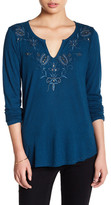 Lucky Brand Embroidered Long Sleeve Shirt