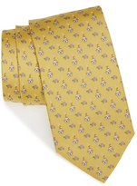 Salvatore Ferragamo Men's Dog & Turtle Print Silk Tie