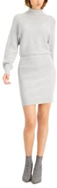 Bar III Ribbed Mini Sweater Dress, Created for Macy's