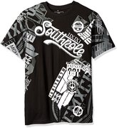 Southpole Men's Short Sleeve Graphic Tee with Slanting Logo