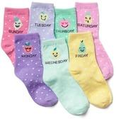 Gap Fruit days-of-the-week half crew socks (7-pairs)