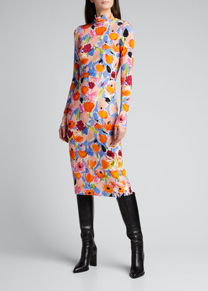 Rachel Comey Horatio Long-Sleeve Floral-Print Dress