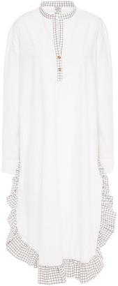 Baum und Pferdgarten Aerionna Paneled Printed Cotton-poplin Dress
