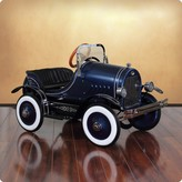 The Well Appointed House Dexton Deluxe Blue Roadster Pedal Car for Kids - ON BACKORDER UNTIL 2017