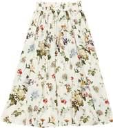 Floral Printed Viscose Long Skirt