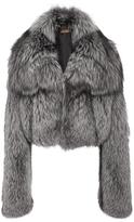 Michael Kors Silver Fox Fur Shrug