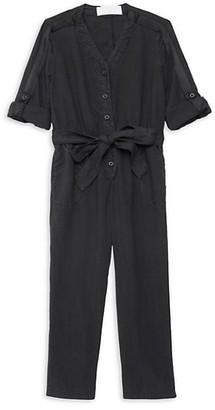 Bella Dahl Little Girl's & Girl's Roll-Sleeve Jumpsuit