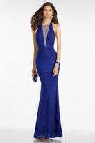 Alyce Paris B'Dazzle - 35793 Sleeveless Halter Open Back Long Gown