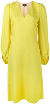 Creatures of the Wind V-neck long sleeve dress - women - Silk/Virgin Wool/Meryl - 2