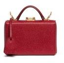 Mark Cross 'Grace Box' mini saffiano leather trunk