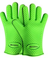 Homdox BBQ Grill Gloves,Silicone Oven Gloves,BBQ Grill Mitts, Oven & Baking Gloves & Kitchen Cooking Gloves (Green)