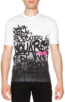 DSQUARED2 Graffiti-Print Short-Sleeve T-Shirt, White