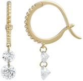 Raphaele Canot Set Free Double Diamond Beaded Mini Hoop Earrings - Yellow Gold
