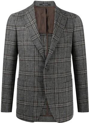 Tagliatore Virgin Wool Check Blazer