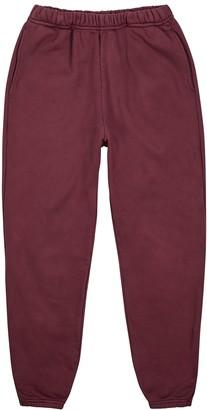LES TIEN Burgundy Cotton-jersey Sweatpants