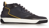 Fendi Bag Bugs Leather High-top Trainers
