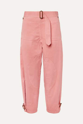 J.W.Anderson Belted Cotton-drill Pants - Pink