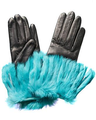 Portolano Black Leather Gloves
