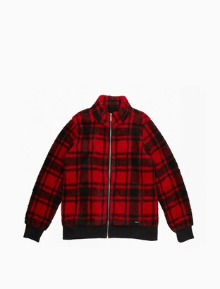 Calvin Klein Plaid Full Zip Jacket