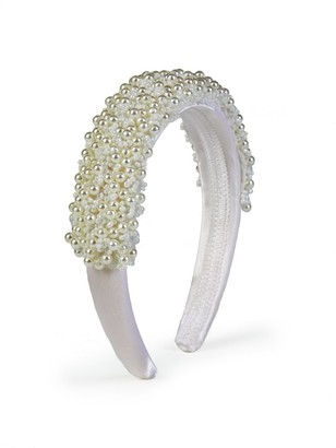 Isabel Garreton 3D Floral Satin Headband