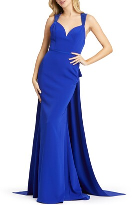 Mac Duggal Bow Sash Embellished Gown