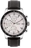 Julius Limited Edition JAL-036A Men's Quartz Anolog Black Leather Calendar Watch