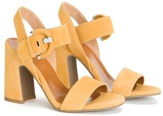 Aquatalia Naya Ankle Strap Buckle Block Heel Sandal